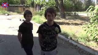 Юные ополченцы патриоты Новороссии  На войне как на войне