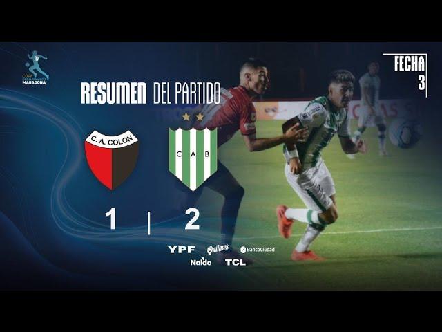 Copa Diego Maradona | Fases | Fecha 3 | resumen de Colón - Banfield