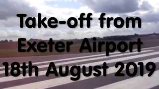 Take-off from Exeter Airport, 18th August 2019