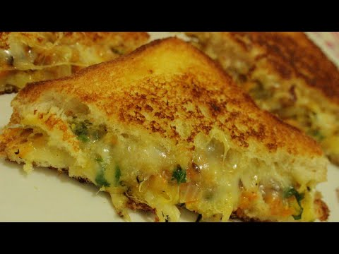 how to make cheese chilli sandwich