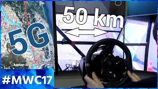 On a piloté une voiture à 50 km de distance grâce à la 5G ! MWC 2017
