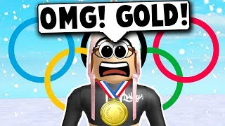 I WON A GOLD MEDAL! (Roblox Olympics 2018) Roblox Roleplay