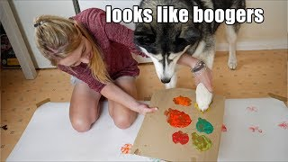 attempting-to-paint-with-my-dog-he-thinks-he-s-a-fartist-now