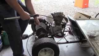 15 HP 5-Speed Go Kart Build Part 4- Clutch and Getting it Running