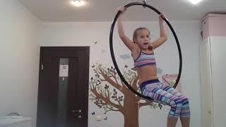 Урок #3 Машер воздушное кольцо aerial hoop lessons