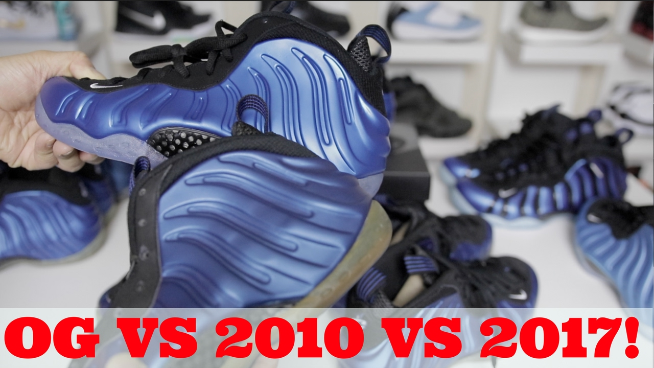 89d3c2cc4d6c1 NOT SOLD OUT  OG VS 2010 VS 2017 ROYAL BLUE PENNY FOAMPOSITE REVIEW ...