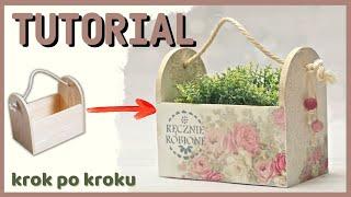 Decoupage romantyczne pudełko - DIY tutuorial