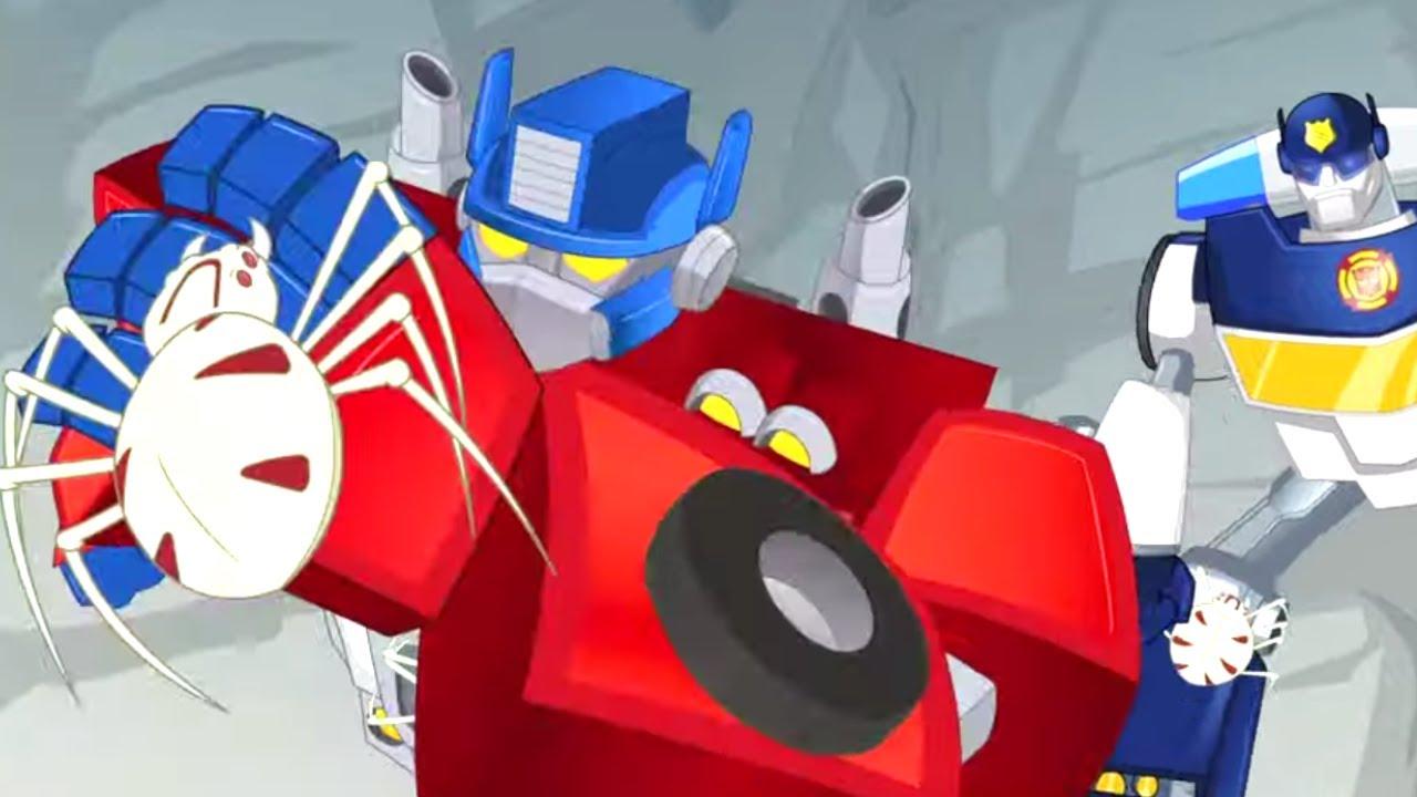 Transformers Kids 🕷 Spider Invasion! 🕷 Transformers Rescue Bots | Kids Videos