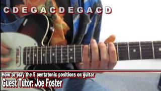 How to play the 5 pentatonic positions on guitar - Joe Foster