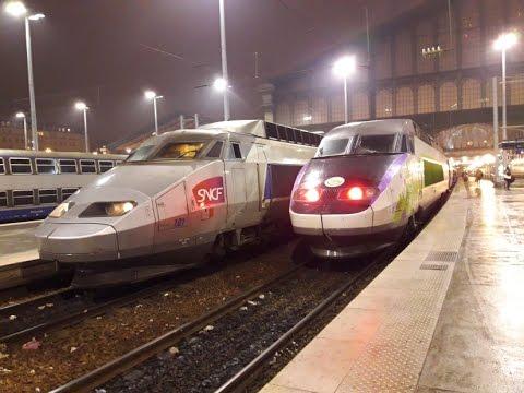 FR#165 - Ambiance nocturne à Paris Gare du Nord: TGV Thalys IZY IC TER - 24/01/17