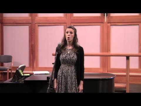 "Natalie Ward sings ""Come Unto Him"" from Handel's ""Messiah"""