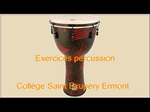 Percussions Djembé Exercices Collège Saint Exupéry Ermont