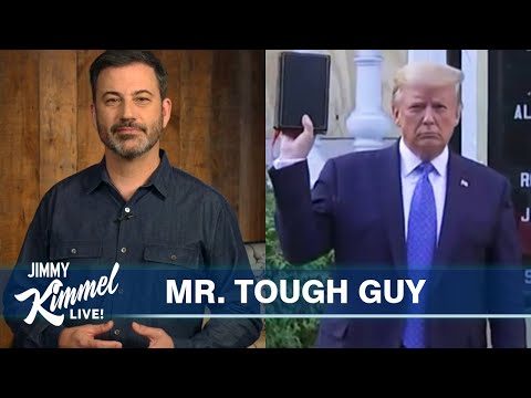 Jimmy Kimmel on Protests Trump's Bible Photo Op & White Privilege
