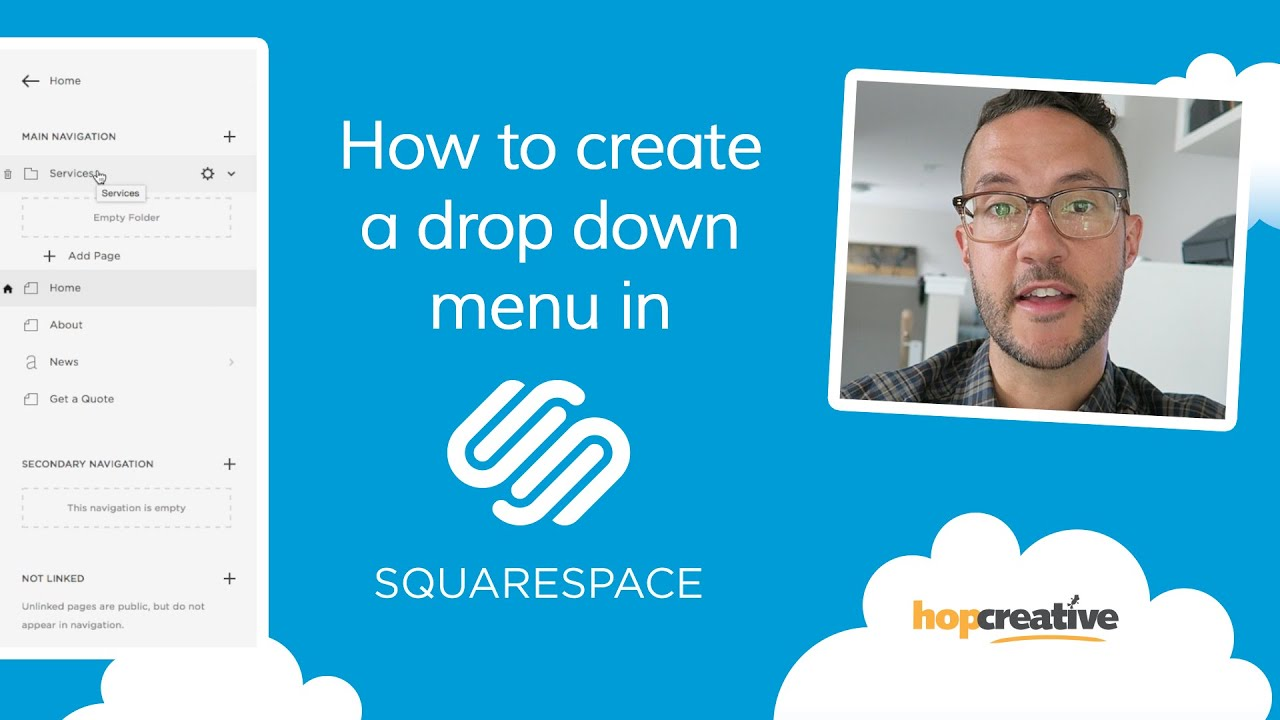 How to Create a DROP DOWN MENU in SQUARESPACE - YouTube