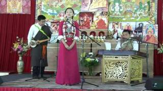 Tenzin Kunsel performs infront of Sogyal Rinpoche