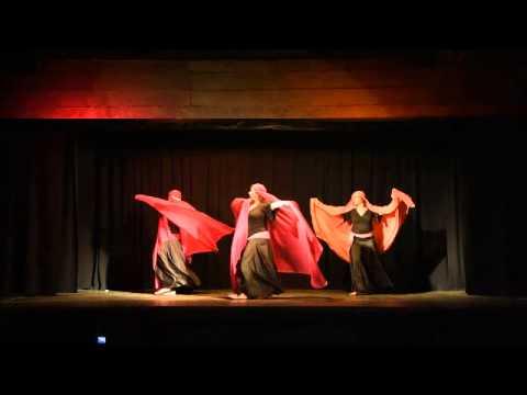 Danse orientale contemporaine avec voiles