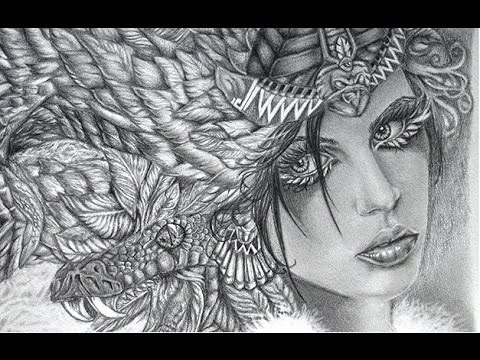 Speed Drawing Aztec God - YouTube