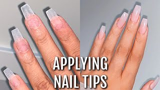 APPLYING NAIL TIPS FΟR THE FIRST TIME - I Was Shook!! 😍