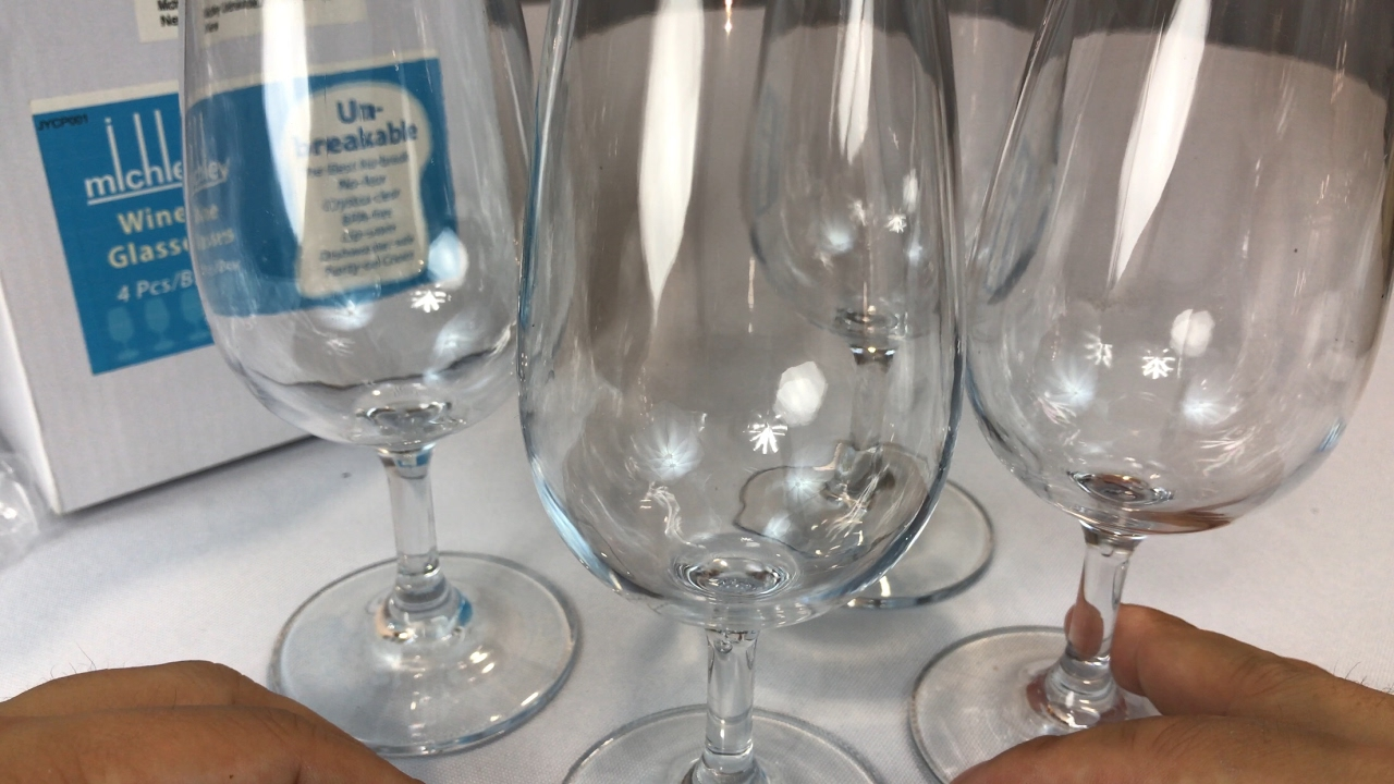 1010c5c6b1a MICHLEY Unbreakable Shatterproof Plastic Wine Glasses review - YouTube