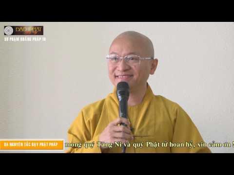 Sư Phạm Hoằng Pháp 10: Ba nguyên tắc dạy Phật pháp (12/03/2016)