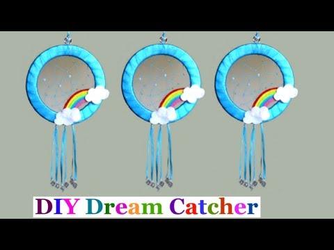 DIY Easy Way To Make Dream Catcher Step by Step at home  DIY Dreamcatcher tutorial  room decor idea