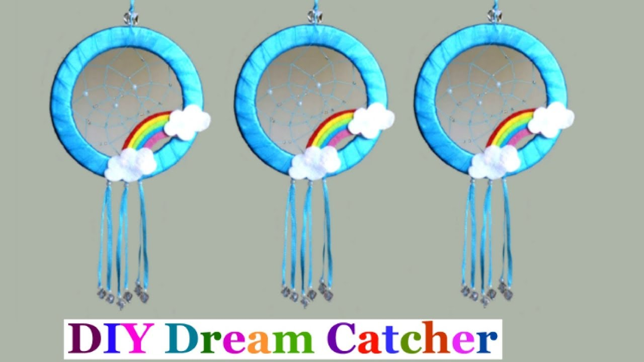 Diy easy way to make dream catcher step by step at home for How to make a dreamcatcher step by step