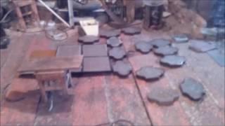 Тротуарная плитка,(брусчатка)  Начало производства(Это можно сказать первые испытания бетономешалки, просто видео затерялось в компьютере, думал что вообще..., 2016-05-19T07:18:12.000Z)