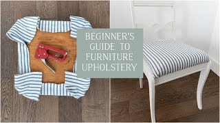 Beginners Guide To Furniture Upholstery