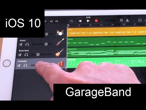Garageband on iPad with iOS - a tutorial