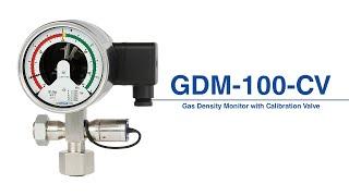 Monitor de densidade de gás com válvula de calibração, modelo GDM-100-CV