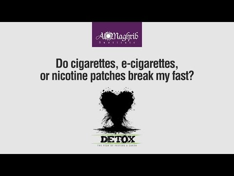 Cigarettes, E-cigarettes, and Nicotine Patches When Fasting | Waleed Basyouni | Detox Ramadan Fiqh