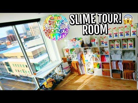 SLIME ROOM TOUR! SLIMEBYJACKLYNE SLIME SHOP ROOM TOUR! Nichole Jacklyne
