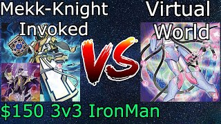 Mekk-Knight Invoked Vs Virtual World 3v3 Iron Man Yu-Gi-Oh! 2021