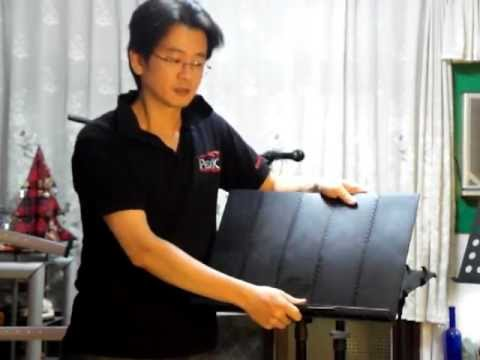 PEAK Music Stands 樂器架 SMS-50 Introduction 鋁合金製摺疊式譜架