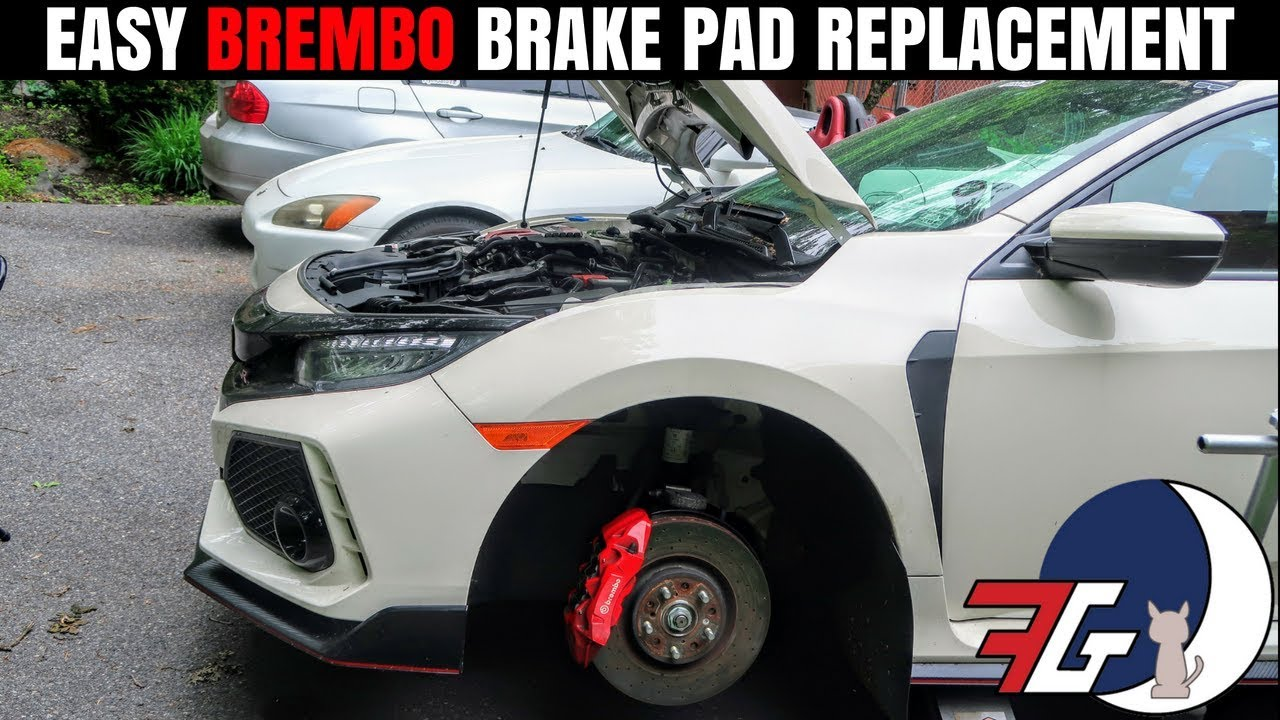 How to Install Brembo Brake Pads EASY! | Honda Civic Type R Brake  Replacement