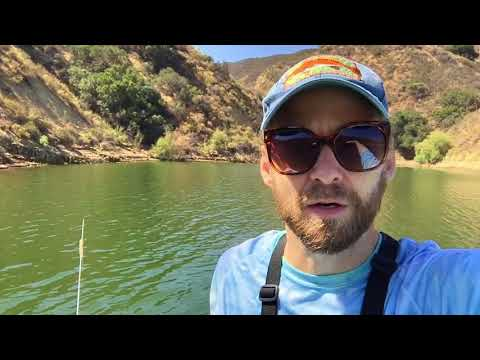 Castaic Bass fishing! Tons of bass boils!
