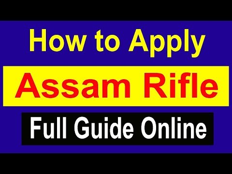 How to Apply Assam Rifle Recruitment Open Rally Online Registration Application Form