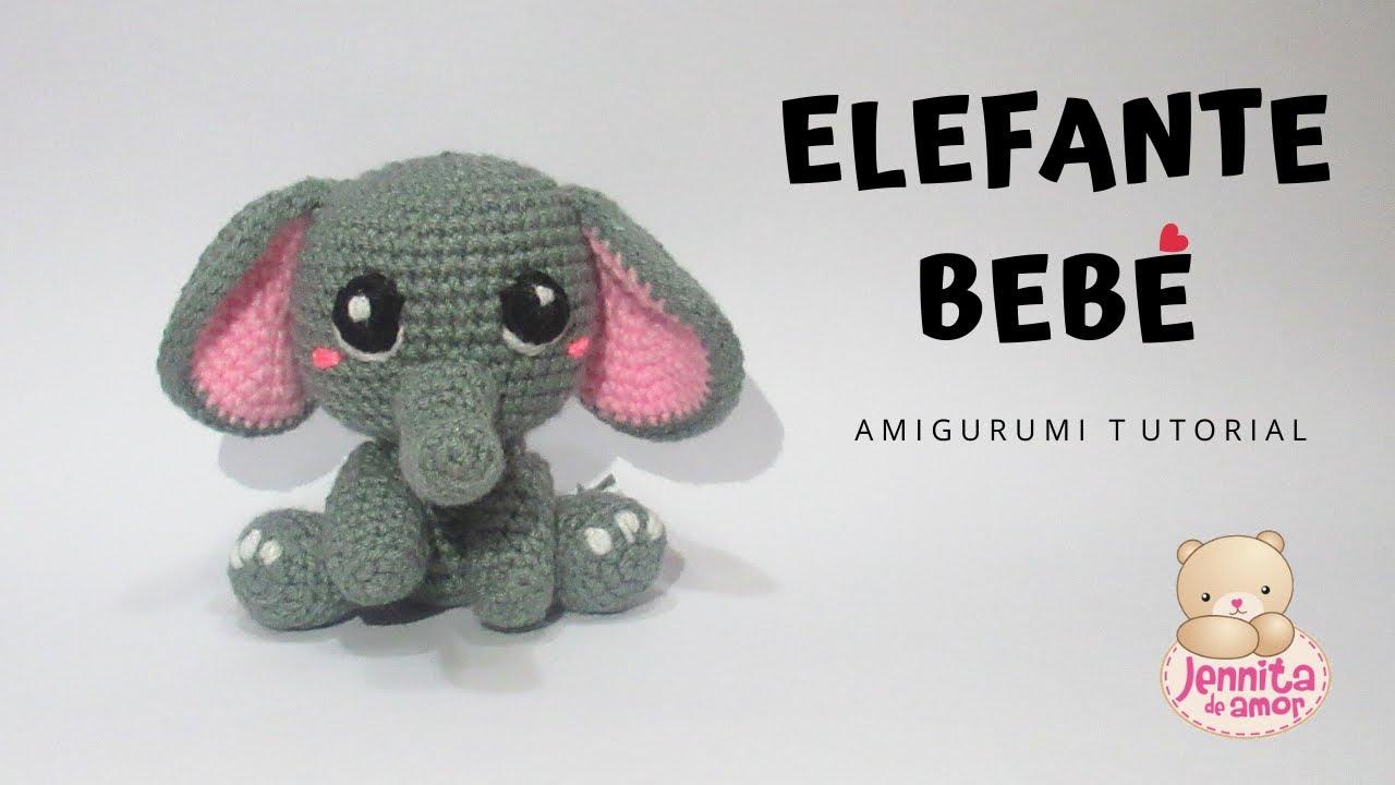 Patrón gratis amigurumi de elefantes colgantes - amigurumis y más | 720x1280
