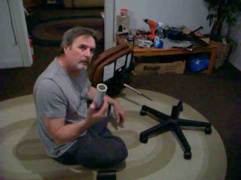 Repairing a PC fice chair using PVC pipe update video