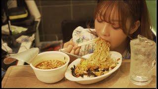 [mukbang]피시방에서 육개장 라면에 치킨마요덮밥 먹방(Chicken mayonnaise rice, Yukgaejang Ramen)