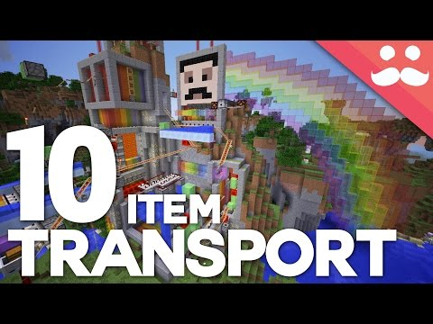 10 Ultimate Item Transportation Systems in Minecraft!