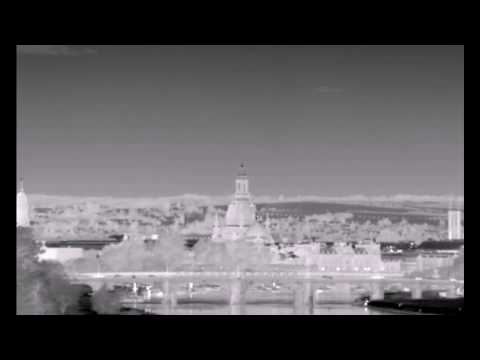 Superzoom thermal video of the Frauenkirche Dresden, Church of Our Lady