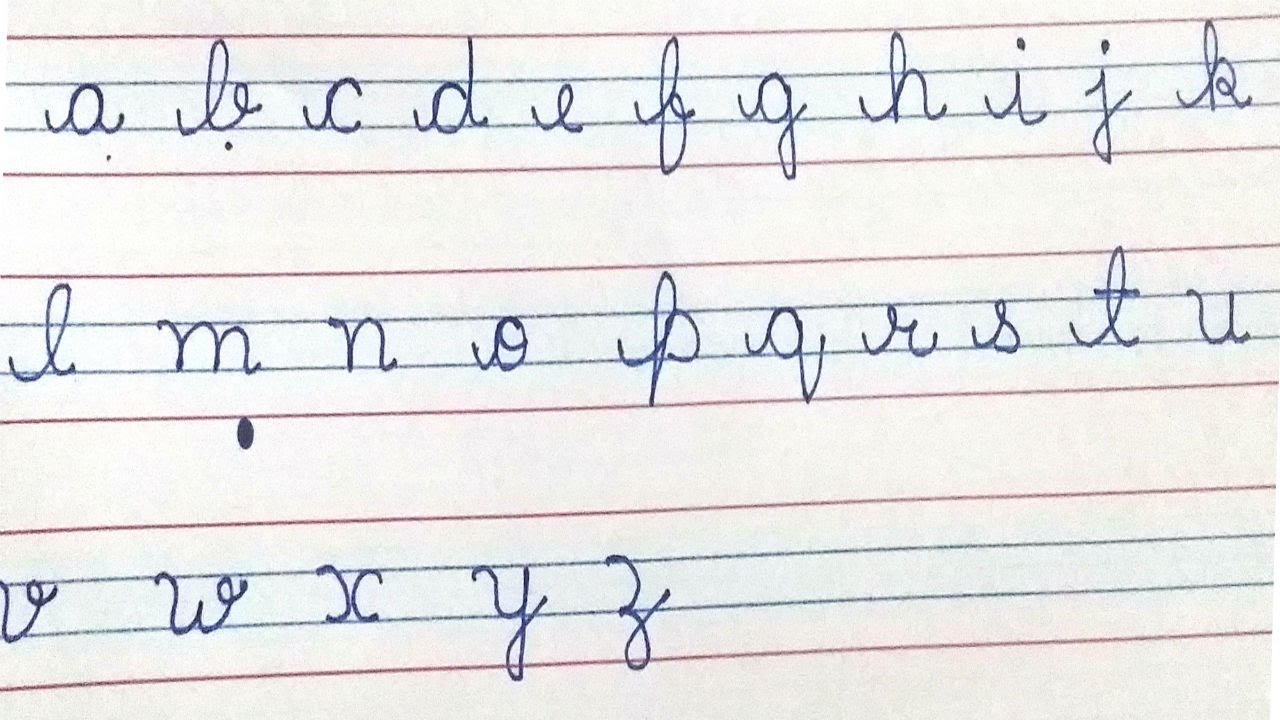 How to write abc in cursive popflyboys