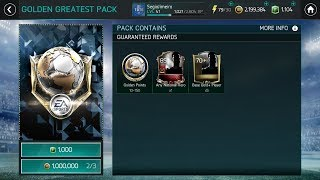 Golden Greatest Pack Opening - FIFA Mobile 18  !! 89+ pulled | Best Golden Greatest Pack