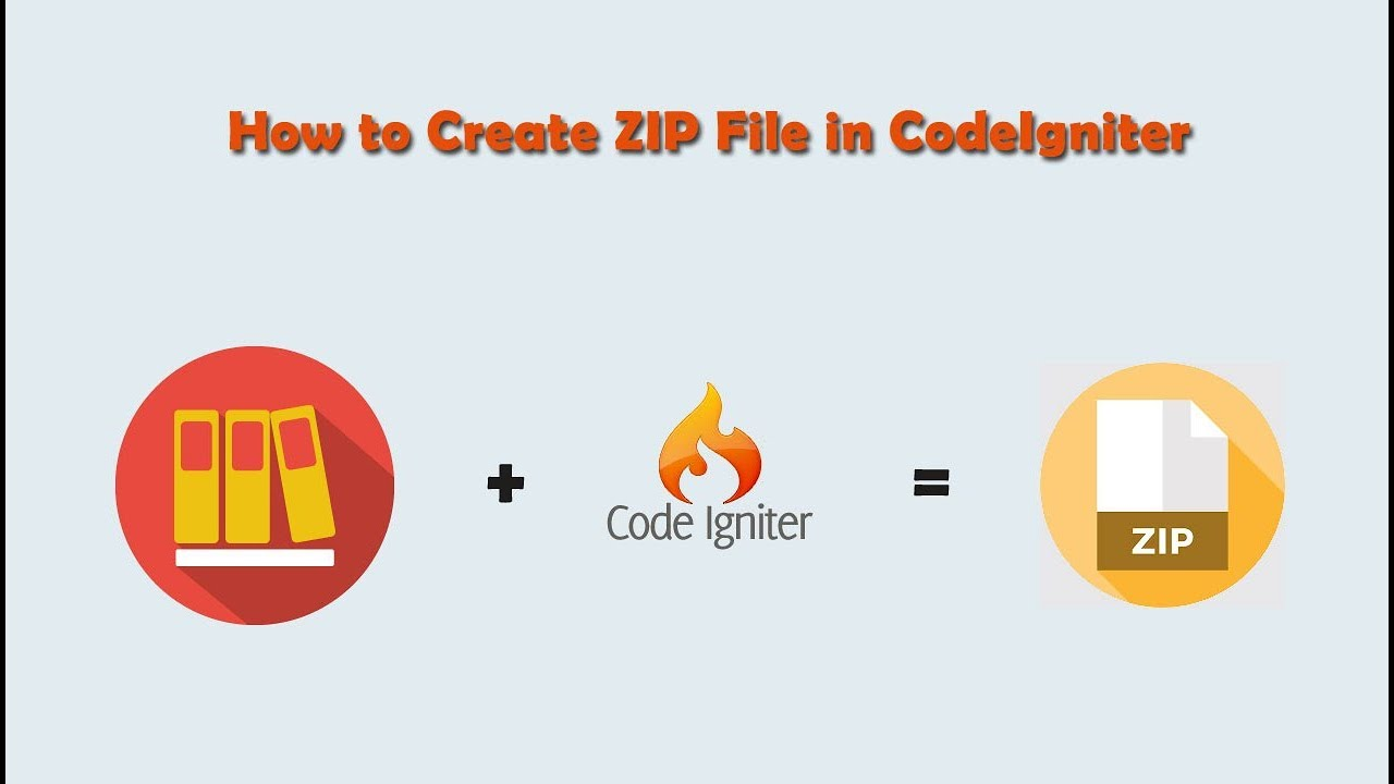 Make and Download Zip File using Codeigniter | Webslesson