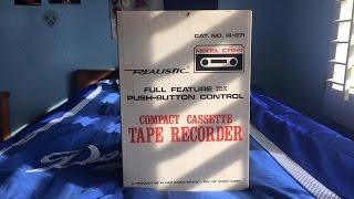 Vintage 1969 Realistic Compact Cassette Tape Recorder CTR-11