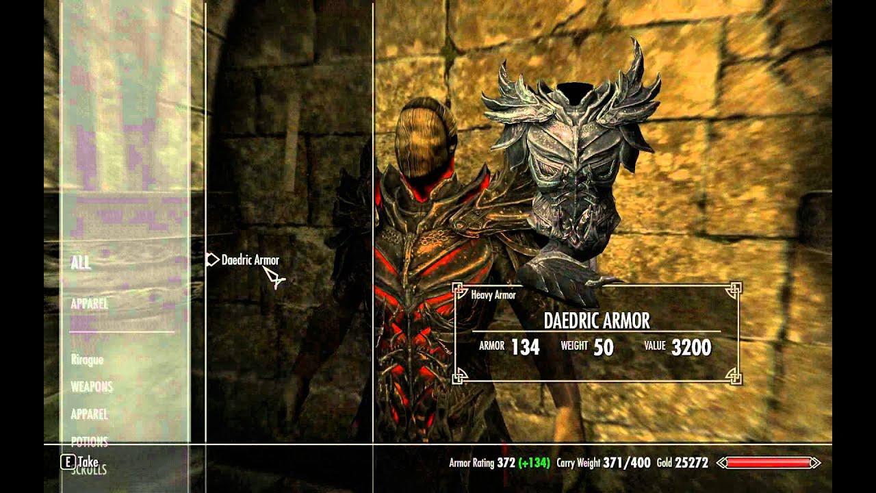 Daedric Armor Skyrim Item Armor Dupe...