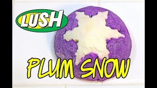 LUSH PLUM SNOW Bubble Bar ❄ CHRISTMAS 2017 ❄ DEMO & REVIEW