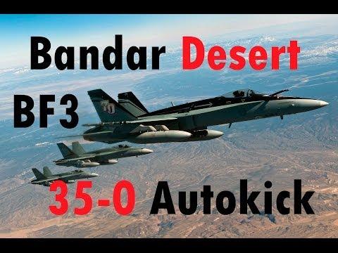 BF3 Perfect Jet Round (35-0) - Autokick | Bandar Desert: F-18 | Conquest HD Gameplay