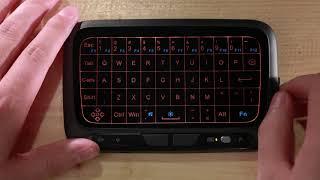 H18+ 2.4GHz Wireless Backlight Keyboard Full Touchpad